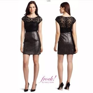Frock! Tracy Reese leather & lace Morgan Dress Sz4